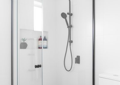 black edged shower recess