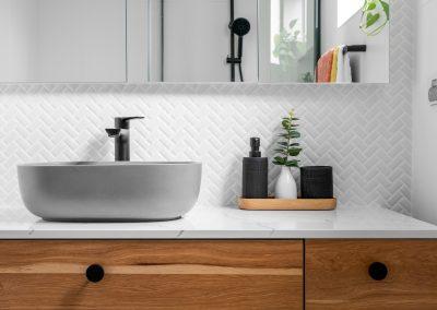 bathroom vanity with marble top