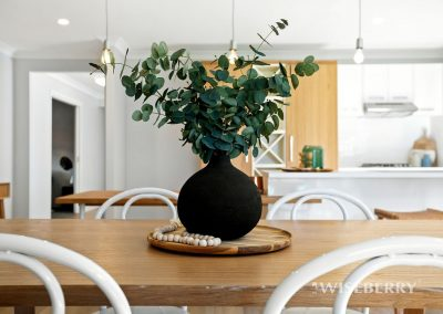 Blue gum leaves in a vase