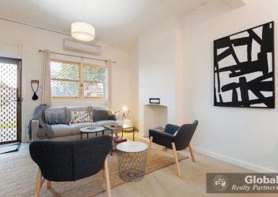 artwork creates an impact in a lounge area