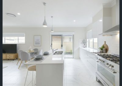 Styling the kitchen allows buyers to see themselves in your property