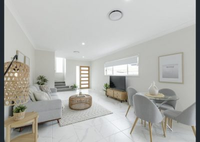 A clean colour palette appeals to a broad range of buyers